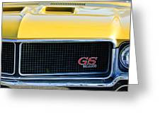 1970 Buick Gs Grille Emblem Greeting Card by Jill Reger