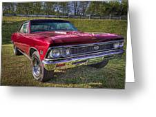 1976 Chevelle Ss 396 Greeting Card by Debra and Dave Vanderlaan