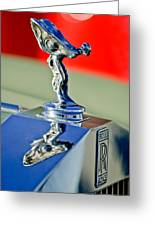 1976 Rolls Royce Silver Shadow Hood Ornament Greeting Card by Jill Reger