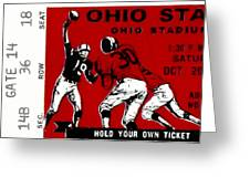1979 Ohio State Vs Wisconsin Football Ticket Greeting Card by David Patterson