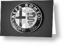 1986 Alfa Romeo Spider Quad Emblem Greeting Card by Jill Reger