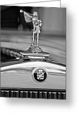 1929 Cadillac 1183 Dual Cowl Phaeton Hood Ornament Greeting Card by Jill Reger