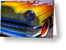 1954 Chevy Bel Air Custom Hot Rod Greeting Card by David Patterson