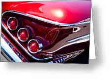 1958 Chevy Impala Greeting Card by David Patterson