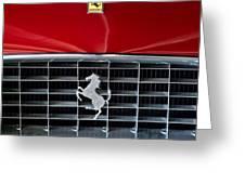 1960 Ferrari 250 GT SWB Berlinetta Competizione Grille Emblem Greeting Card by Jill Reger