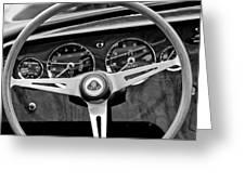 1965 Lotus Elan S2 Steering Wheel Emblem Greeting Card by Jill Reger