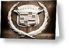 1969 Cadillac Eldorado Emblem Greeting Card by Jill Reger