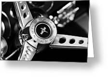 1969 Ford Mustang Mach 1 Steering Wheel Greeting Card by Jill Reger