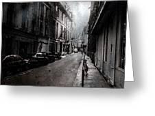 A Walk Apart Greeting Card by David Fox