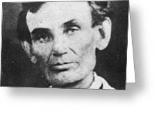 Abraham Lincoln Greeting Card by Anonymous