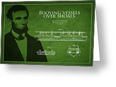 Abraham Lincoln Patent From 1849 Greeting Card by Aged Pixel