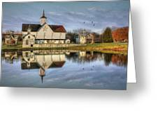 Afternoon At The Star Barn Greeting Card by Lori Deiter
