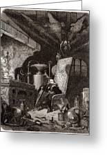Alchemist At Work, 19th Century Greeting Card by Science Photo Library