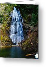An Angel In The Falls Greeting Card by Jeff  Swan