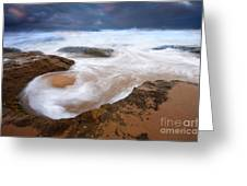Angry Sea Greeting Card by Mike  Dawson