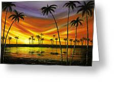 Another Sunset In Paradise Greeting Card by Gina De Gorna