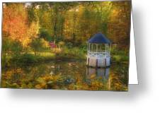Autumn Gazebo Greeting Card by Joann Vitali