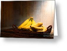 Bananas Greeting Card by Olivier Le Queinec
