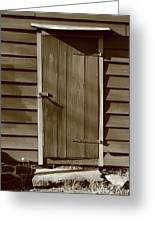 Barn Door Greeting Card by Frank Romeo