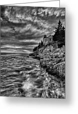 Bass Harbor Lighthouse Greeting Card by Chad Tracy