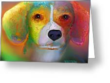 Beagle Greeting Card by Marlene Watson