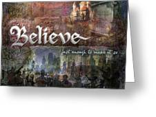 Believe Greeting Card by Evie Cook