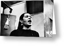 Billie Holiday (1915-1959) Greeting Card by Granger