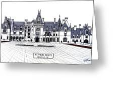Biltmore Estate Greeting Card by Frederic Kohli