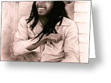 Bob Marley Greeting Card by GUILLAUME BRUNO