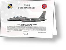 Boeing F-15e Strike Eagle Greeting Card by Arthur Eggers