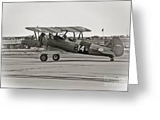 Boeing N2s-4 Stearman Kaydet Greeting Card by Charles Dobbs