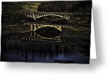 2 Bridges at Dusk Greeting Card by Dale Stillman