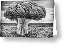 Broccoli Tree Greeting Card by Wim Lanclus