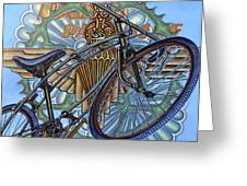 BSA Parabike Greeting Card by Mark Howard Jones