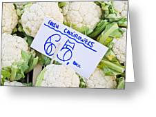 Cauliflower Greeting Card by Tom Gowanlock