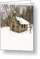 Chapel In The Woods Stowe Vermont Greeting Card by Edward Fielding