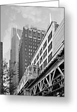 Chicago Loop 'l' Greeting Card by Christine Till