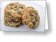 Chocolate Chip Cookies Greeting Card by Edward Fielding