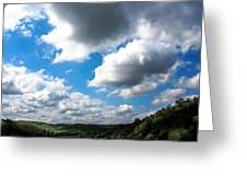 Clouds Greeting Card by Optical Playground By MP Ray