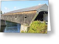 Cornish-Windsor Covered Bridge  Greeting Card by Edward Fielding