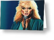 Deborah Harry Or Blondie Greeting Card by Paul Meijering