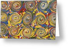 Decorative End Paper Greeting Card by English School