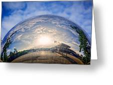 Distorted Reflection Greeting Card by Sennie Pierson