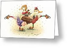 Ducks Christmas Greeting Card by Kestutis Kasparavicius