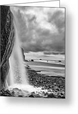 Falling Into The Sea Greeting Card by Jon Glaser