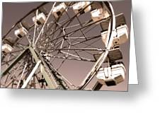 Ferris Wheel Greeting Card by Gregory Dyer