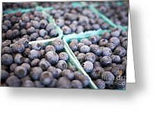 Fresh Blueberries Greeting Card by Edward Fielding