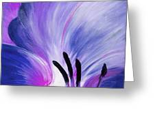 From The Heart Of A Flower Blue Greeting Card by Gina De Gorna