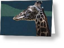 Giraffe Greeting Card by Aaron Blaise