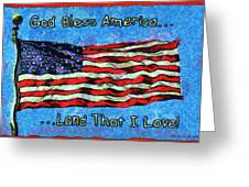 God Bless America  Greeting Card by Barbara Snyder